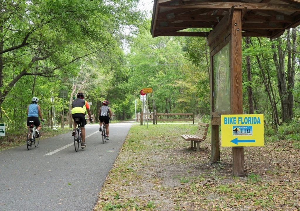 Cycling on Bike Trail